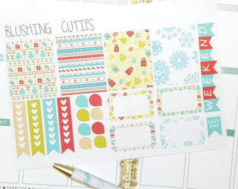 Christmas Full & Half Red and Green Boxes Erin Condren Life Planner