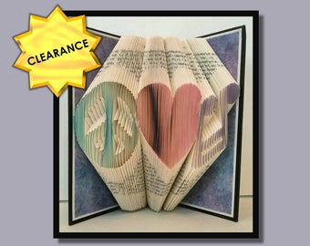 Folded Book Art: Peace, Love, Music