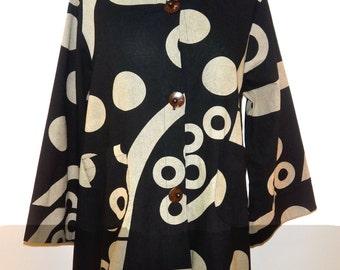 Black/Tan Cotton Pattern Jacket - FA14-5010