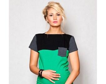 Maternity shirt still shirt 3-in-1 mint maternity wear