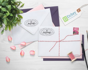 Custom Rubber Stamp, Self Inking Stamp, Custom Return Address Stamp, Self Ink Return Address Stamp, --SI-4927-McGradys