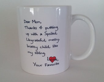 Funny Sibling Mug