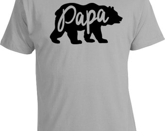 Funny Dad Shirt Gifts For Dad Papa Bear Shirt Daddy T Shirt Dad Gift Ideas Daddy Clothing Father TShirt New Dad Gifts Mens Tee MAT-665