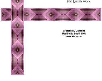 Chocolate Covered Pink Bead Loom Pattern