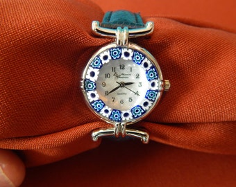 Vintage Ladies Quartz Watch with Murano Glass face.