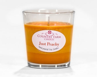Just Peachy Orange Soy Candle 8.5 oz. Glass Tumbler with Kraft Box