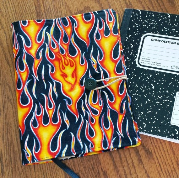 Fabric Book Cover For Sale : Fabric journal cover student notebook composition