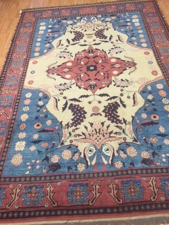 "6'10"" x 9'10"" Afghan Tabriz Design Oriental Rug - Hand Made - 100% Wool"