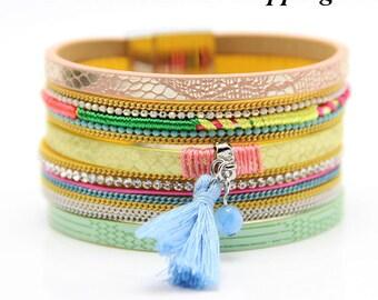 Boho Bracelet, Hippie Bracelet, Brazilian Bracelet, Summer Bracelet, Gypsy Bracelet, Beach Bracelet, Multistrand Fashion Bracelet