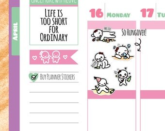 Munchkins - Wasted! Total Hangover Planner Stickers (M141)