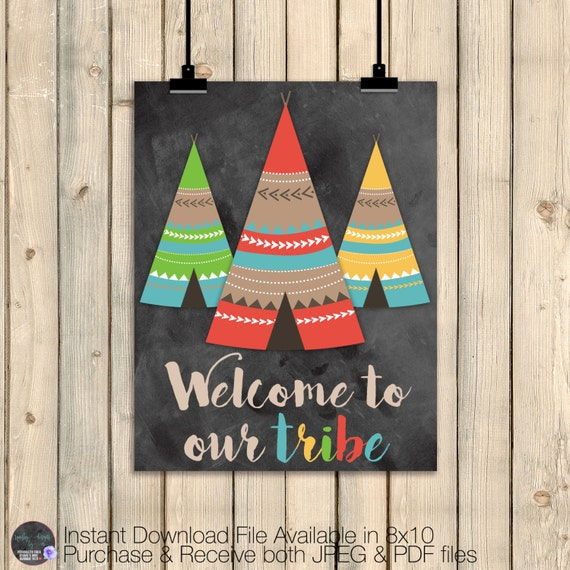Tribal Wall Art Decor Tribal Nursery Decor Welcome To Our
