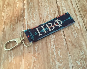 Pi Beta Phi Keychain, Sorority Key Fob, Pi Phi Keychain, Pi Beta Phi, Sorority Key Chain, Sorority Gift, Sorority Keychain