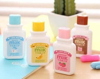 Kawaii Milk Correction Tape / Cute Correction Tape / Kawaii Correction Tape / Cute Stationary / Cute School Supplies / Kawaii Correction Pen