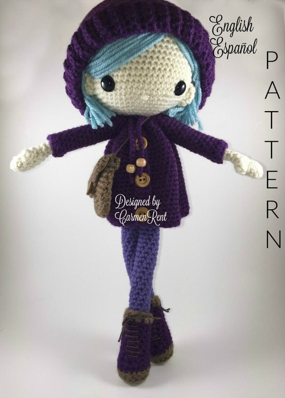 Amigurumi Askina Doll Pattern : Emilia Amigurumi Doll Crochet Pattern PDF