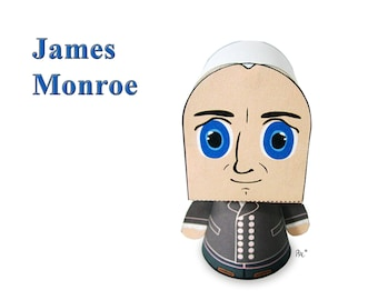 President James Monroe Paper Toy Model w/Movable Parts