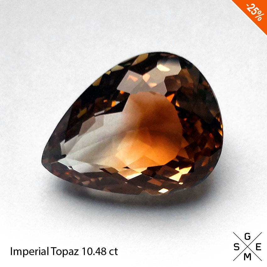 imperial topaz 10 48 ct beautiful gem pear cut