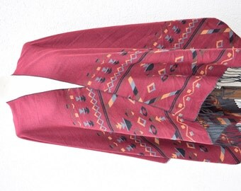 Big Blanket Scarf Birthday Gift Blanket Shawl Aztec Scarf Boho Style Woman Fashion Cocoon Shawl Scarf Winter Accessories Elegance Echarpe