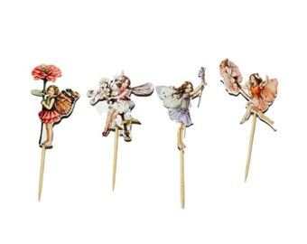 Fairy Flower Cupcake Toppers