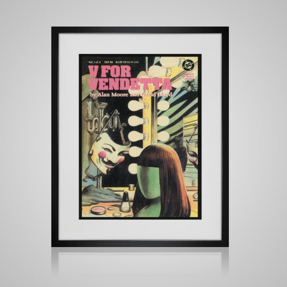 Book Cover Wall Art : Framed wall art vintage comic book cover by