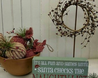 It's all fun and games... ~ Holiday Sign / Shelf Sitter
