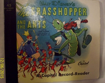 Walt Disney's 1949 Classic The Grasshopper and the Ants 45 Vinyl Record