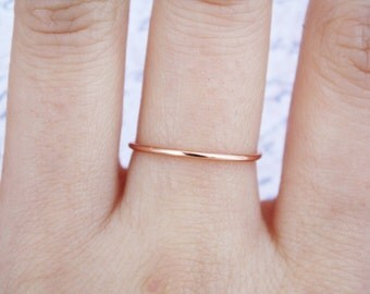 Rose Gold Ring //rose gold filled ring, thin rose gold ring, Rose Gold fill ring,Stacking Rings,Adjustable ring,Minimalist,Chic, dainty,Gift