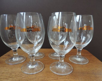 Marklin Train Pub Bar Pint Glasses (6) from West Germany Vintage