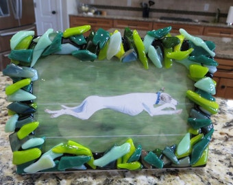 "Handmade Fused Glass 6"" x 4"" Picture Frame"