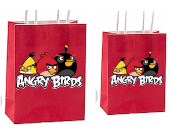 Angry birds Party Favor Bag~ Angry birds Birthday Party Inspired Decorations & Decor