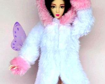 Barbie doll clothes, Barbie fur coat, barbie clothes, Barbie jacket, Barbie winter coat, Barbie doll, Barbie fashion, Barbie clothing