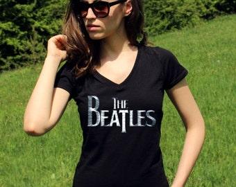 The Beatles Shirt The Beatles Shirts The Beatles TShirt The Beatles T shirt Rock Women V Neck Tees Classic Rock Shirt