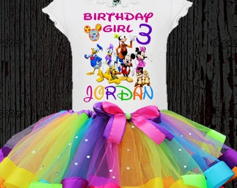Mickey Mouse Clubhouse Tutu - Mickey Mouse Birthday Tutu