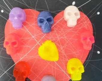Soap Skull, Set of five (5) mini soaps - Play- Fun Soap - Party favor - Baby shower -