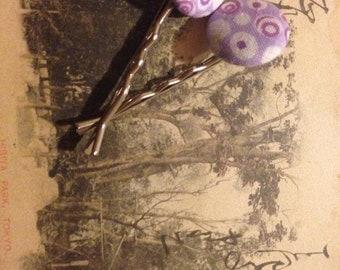 Handmade pin up style 2 piece bobby pin hair accessory