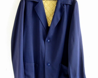 1950's Mens beautiful rayon gabardine Hollywood jacket
