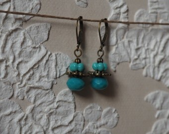 Turquoise small earrings