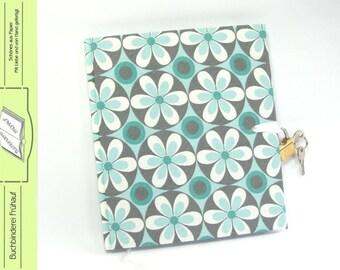 Diary with lock retro flowers