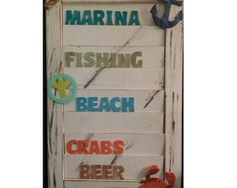 Beachy Shutter Art Marina