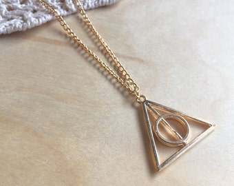 Harry Potter Deathly Hallows Luna Lovegood Necklace