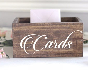 Cards Vinyl Decal, Wedding Card Box Sticker, Wedding Sign, Script CARDS decal, Wedding Stickers, Vinyl Stickers, Wedding Reception Sticker