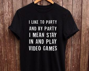 Funny Gamer Shirt - gamer shirts, funny gamer tshirt, gifts for him, gifts for her, gamer gifts