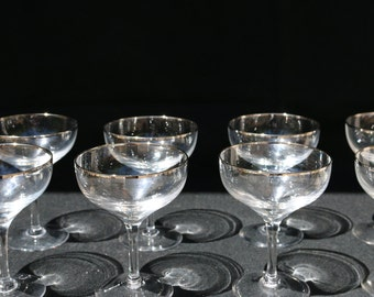 8 Silver Rimmed Coupes