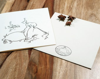 WE ARE GOING...!   a greeting card with original artwork