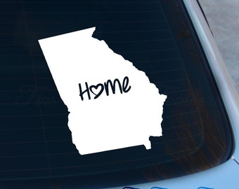 Georgia Decal - State Decal - Home Decal - GA Sticker - Love - Laptop - Macbook - Car Decal