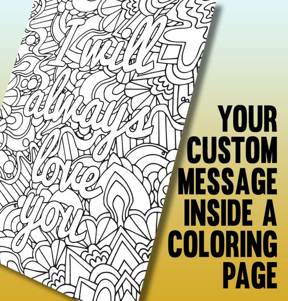 Customized coloring page