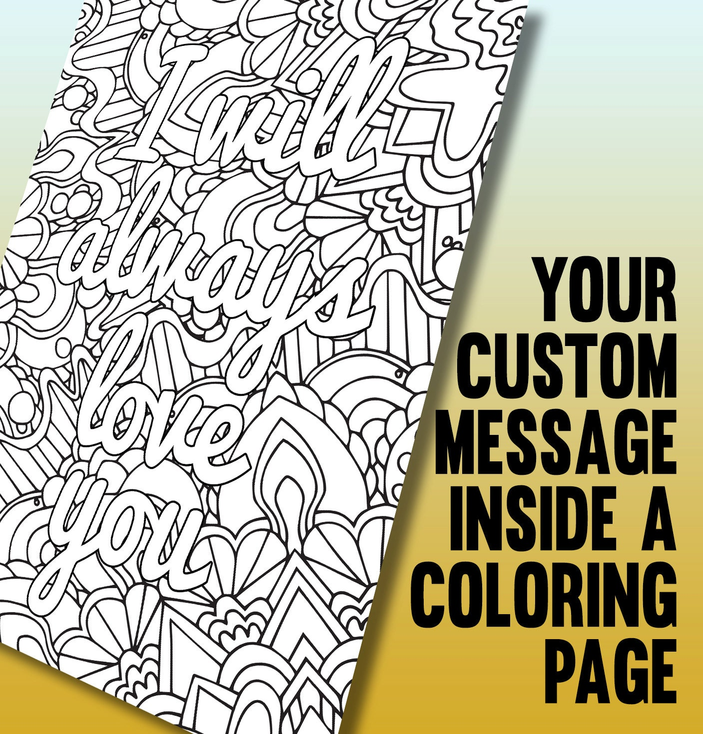 Customized coloring page Printable A4 coloring page made