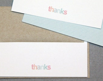 Flat Out Thanks - Thank You Cards (Set of 10)