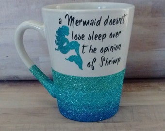 Ombre Glitter Coffee Mug - Mermaid