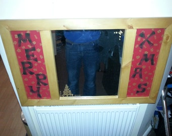 Handmade Christmas mirror that will finsh off your room lovely