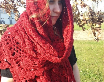 Crochet Pattern - Autumn Rose Wrap